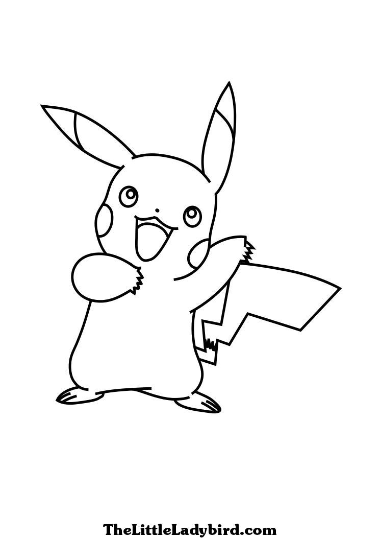81 dibujos de pikachu para colorear oh kids page 6 - Pikachu dessin ...