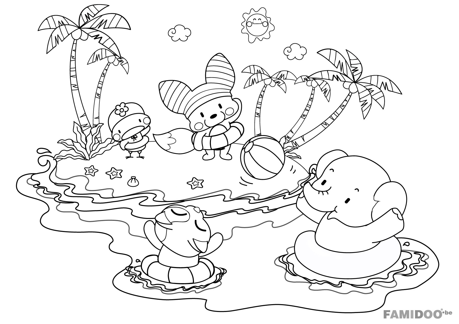 56 dibujos de Playas para colorear | Oh Kids | Page 5