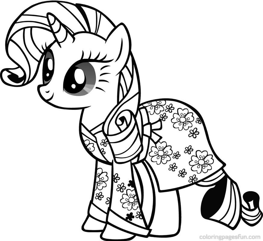 149 Dibujos De Ponis Para Colorear
