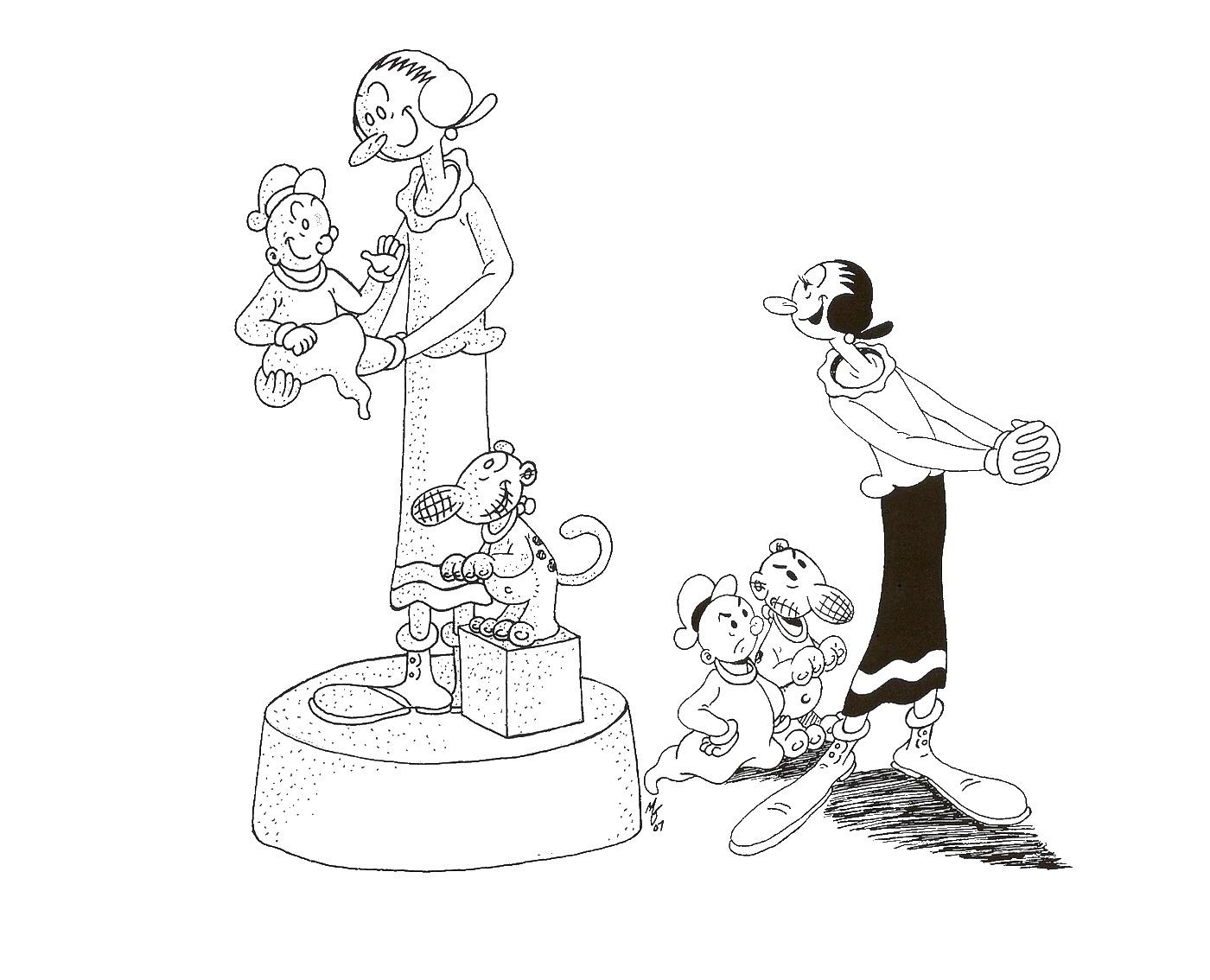 113 dibujos de Popeye el marino para colorear   Oh Kids   Page 3