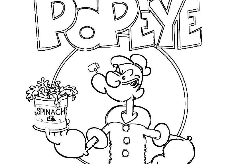 Sus Dibujos Favoritos De Disney Y Píxar Ahora Se Pueden Pintar: 113 Dibujos De Popeye El Marino Para Colorear