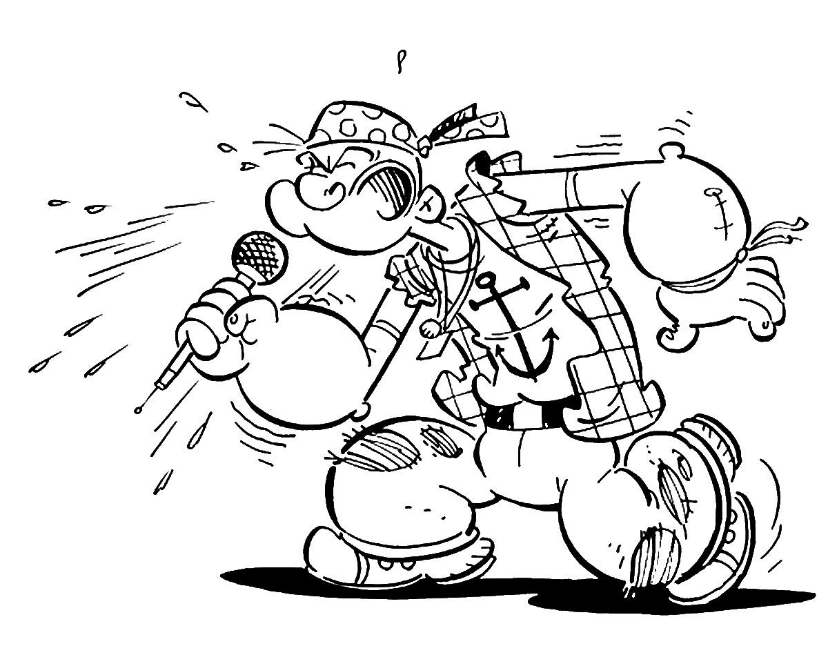 113 dibujos de Popeye el marino para colorear   Oh Kids   Page 10
