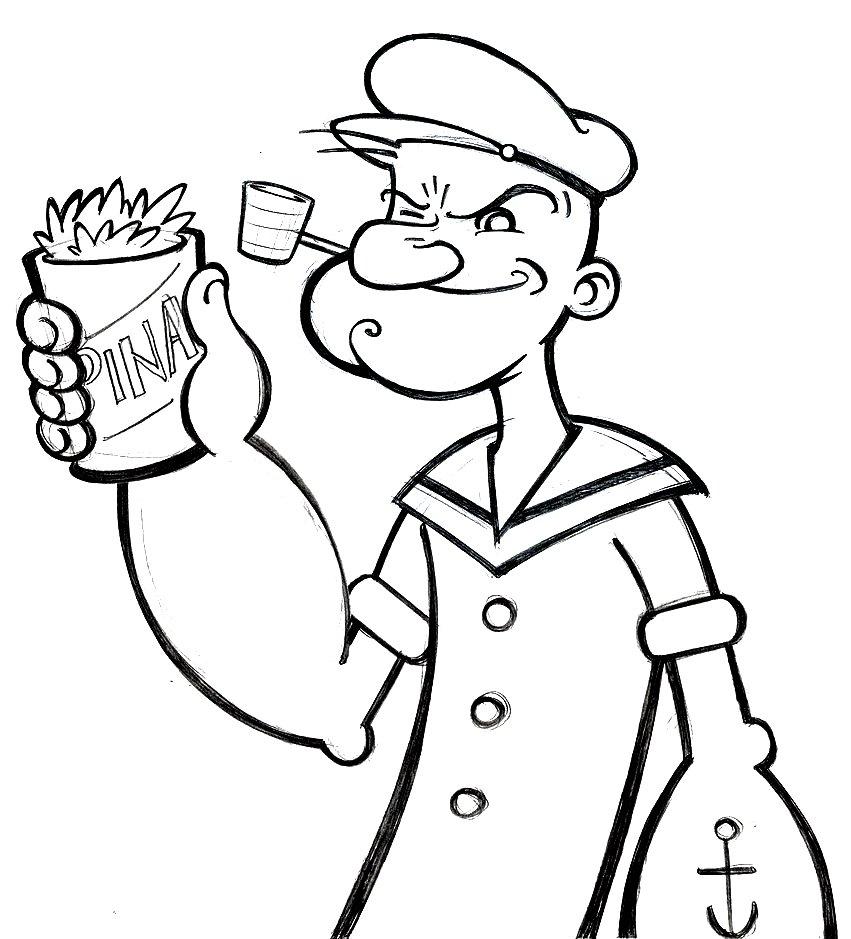 113 dibujos de Popeye el marino para colorear   Oh Kids   Page 11