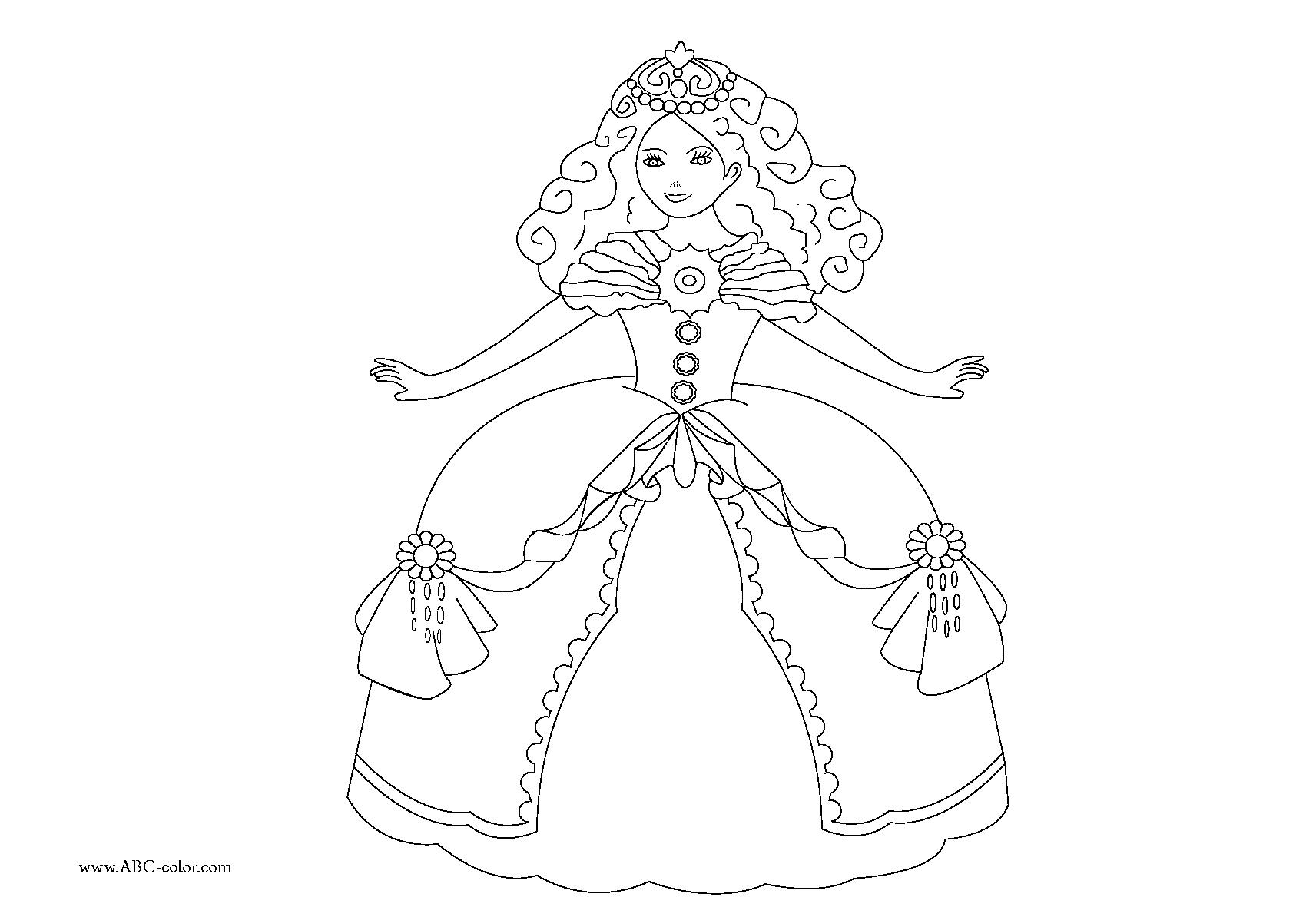 142 dibujos de princesa para colorear oh kids page 1 - Jeux de fille coloriage ...