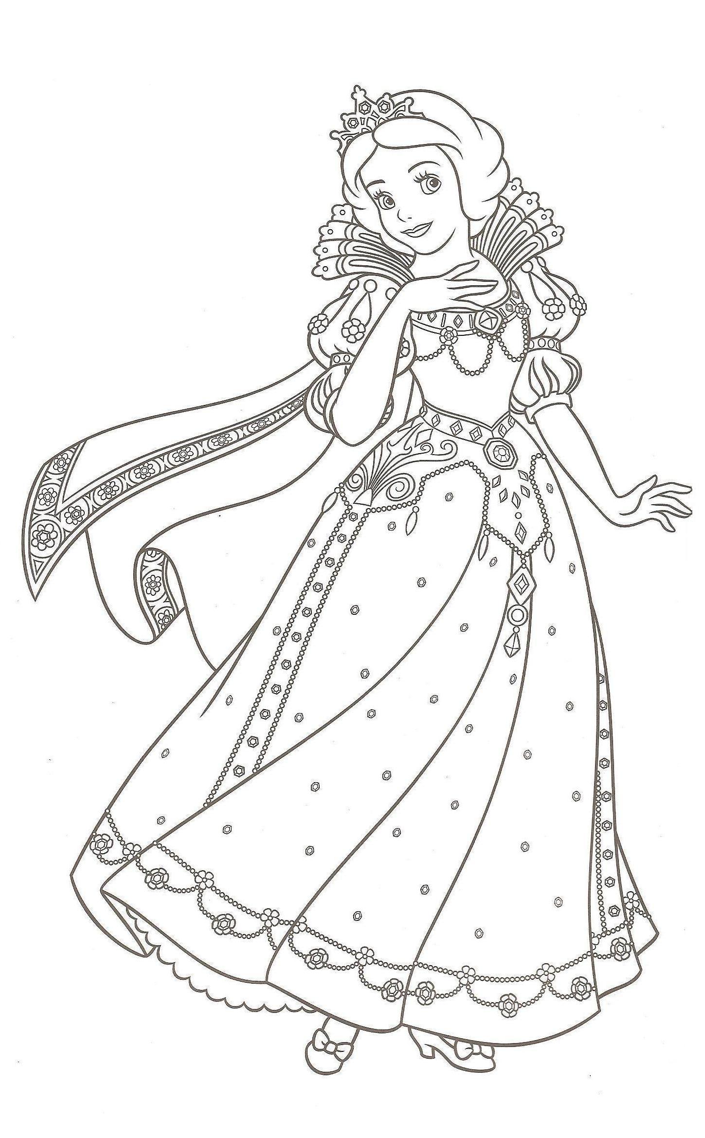 142 dibujos de Princesa para colorear | Oh Kids | Page 7