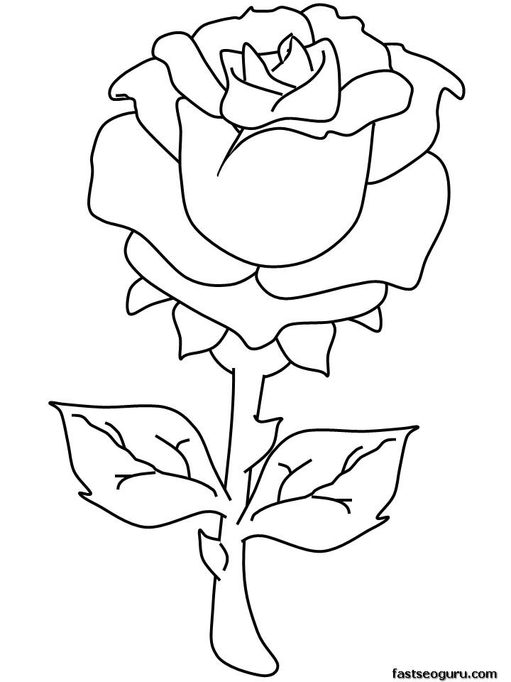57 dibujos de Rosas para colorear | Oh Kids | Page 5
