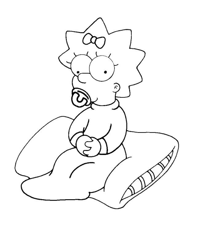 109 dibujos de Simpson para colorear | Oh Kids | Page 1