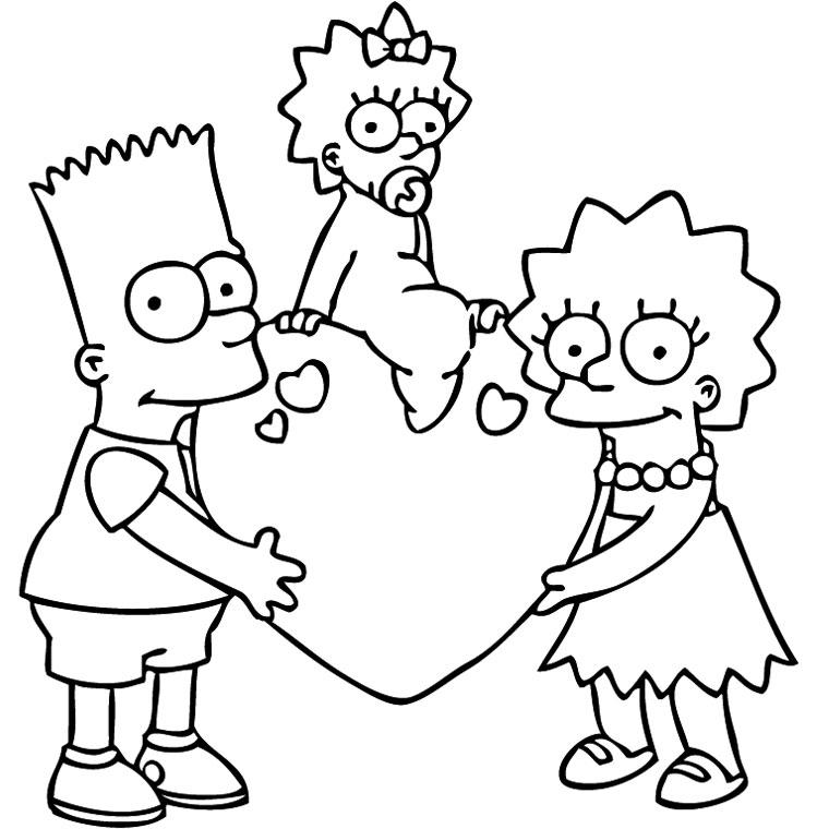109 dibujos de Simpson para colorear | Oh Kids | Page 9