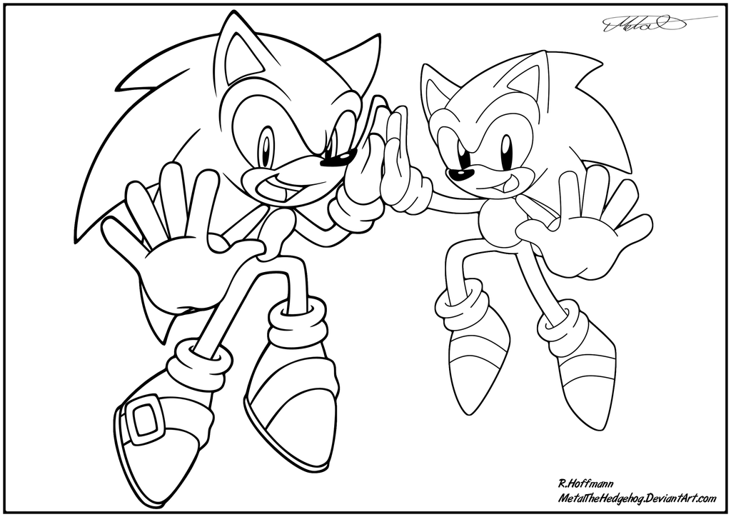 Sonic Generations Coloring Pages - Eskayalitim