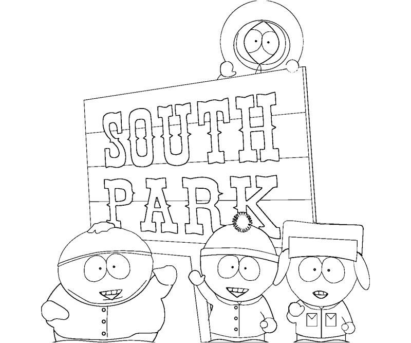 52 dibujos de South park para colorear Oh Kids Page 1