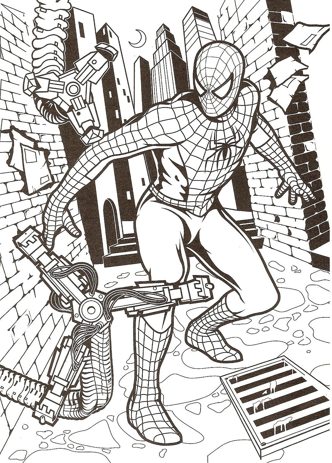 167 Dibujos De Spiderman Para Colorear Oh Kids Page 1