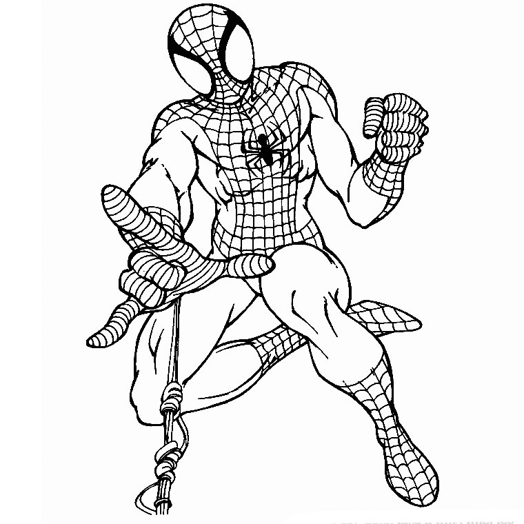 Spiderman para colorear con chicos