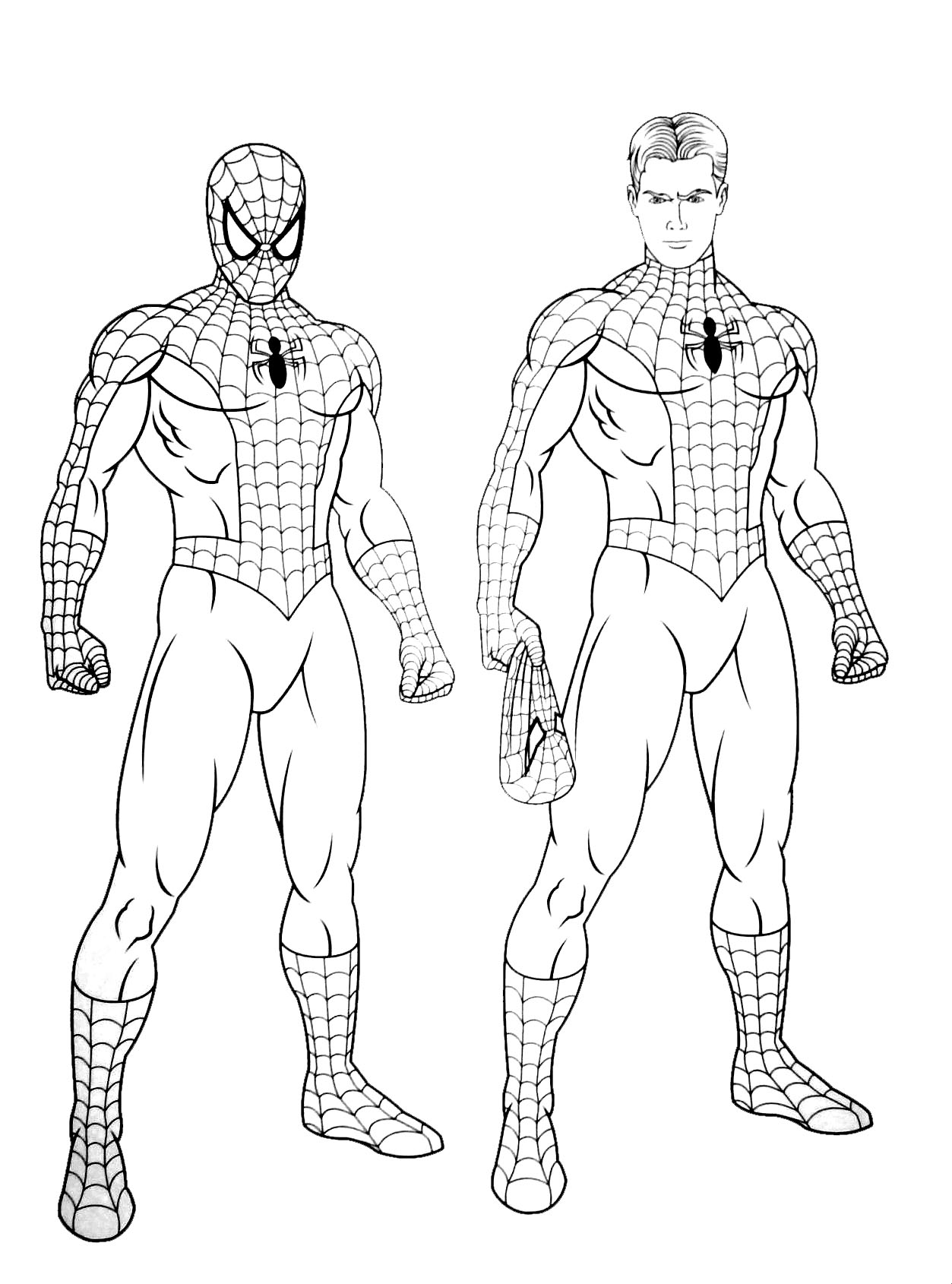 167 dibujos de spiderman para colorear oh kids page 7 - Coloriage spiderman 1 ...