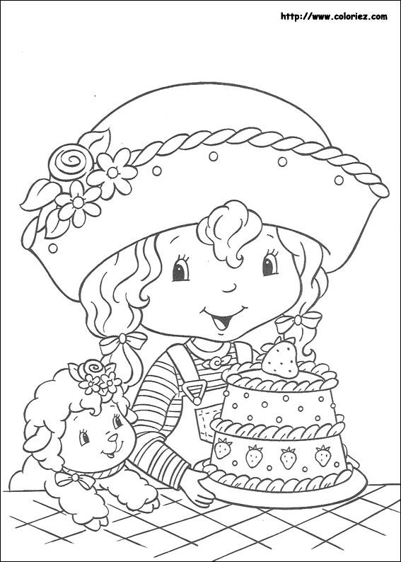 109 dibujos de Tarta de fresa para colorear   Oh Kids   Page 11