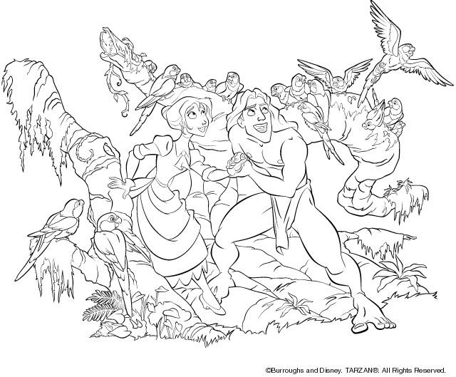 Sus Dibujos Favoritos De Disney Y Píxar Ahora Se Pueden Pintar: 140 Dibujos De Tarzán Para Colorear
