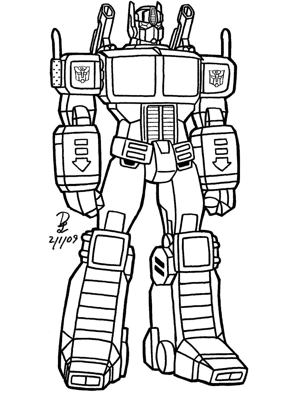 135 Dibujos De Transformers Para Colorear