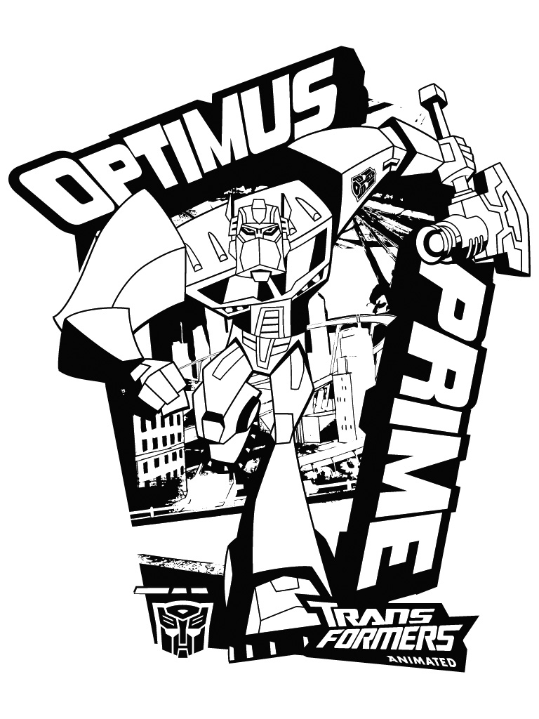 Holiday Coloring Pages Optimus Prime Coloring Page Free