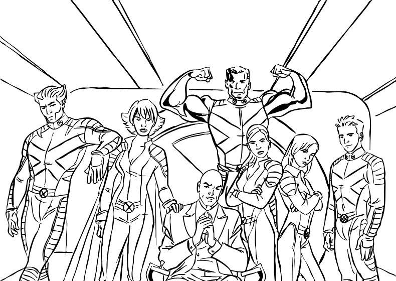 113 Dibujos De X Men Para Colorear Oh Kids Page 5