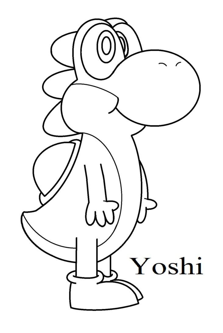 36 Dibujos De Yoshi Para Colorear Oh Kids Page 3