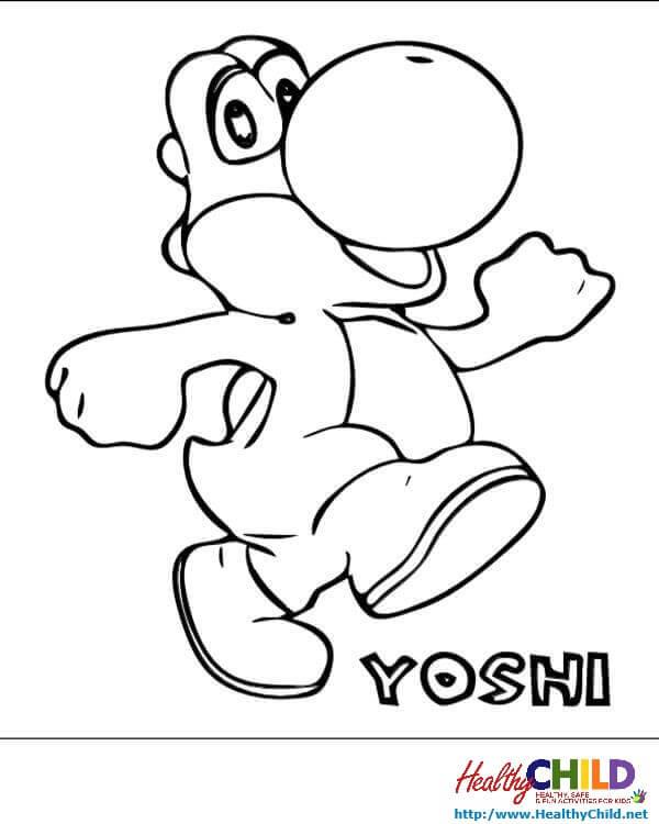 36 dibujos de Yoshi para colorear
