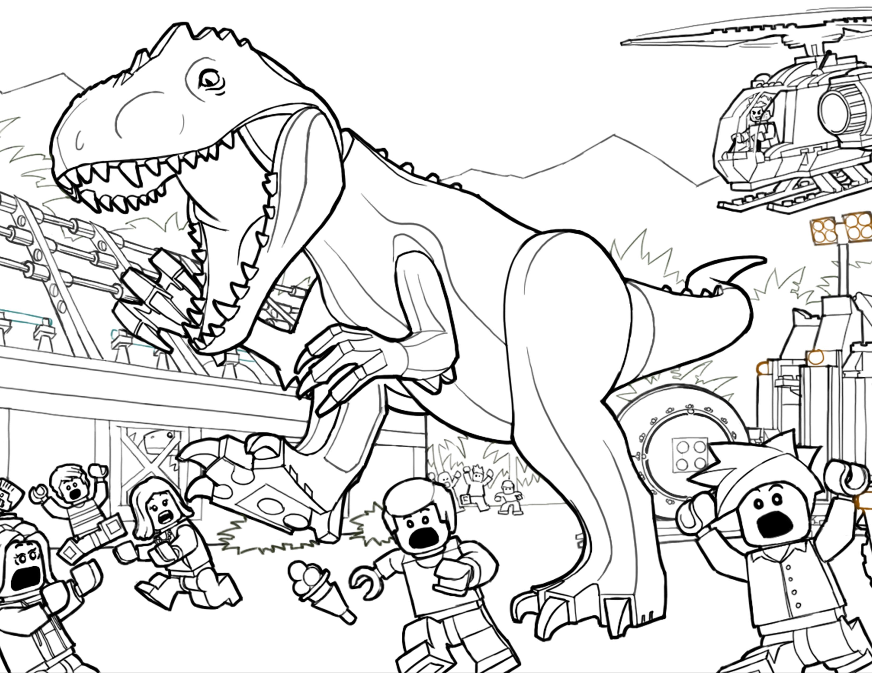 33 dibujos de Jurassic park para colorear   Oh Kids   Page 1