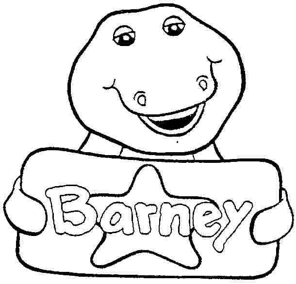 135 dibujos de Barney para colorear | Oh Kids | Page 7