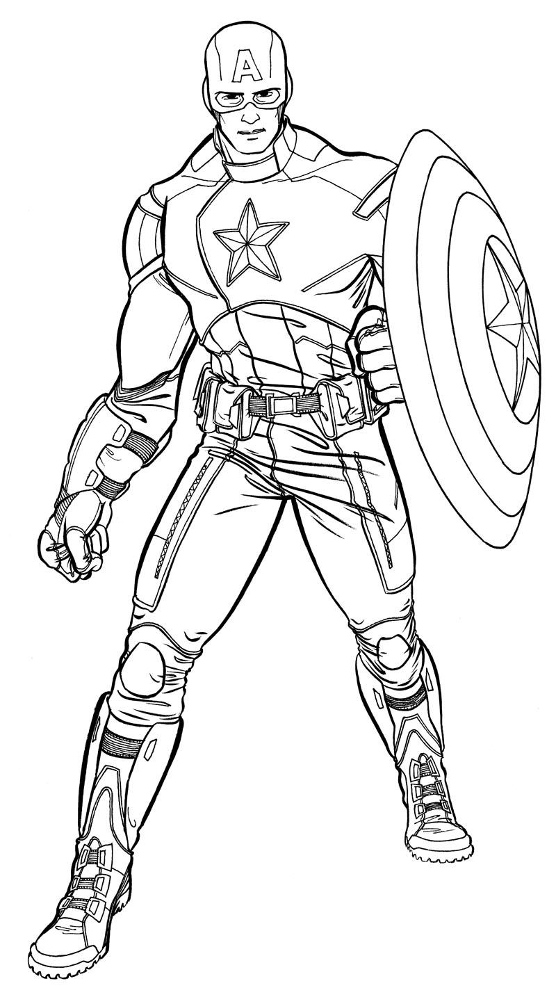 156 dibujos de Capitán américa para colorear | Oh Kids ...