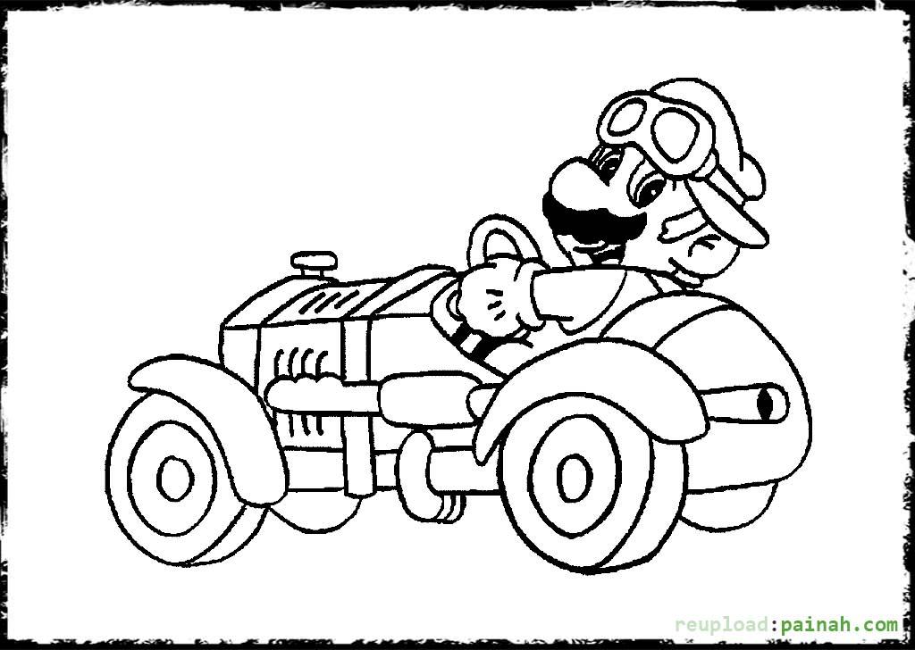 Imagenes Animadas Para Colorear: 22 Dibujos De Mario Kart Para Colorear