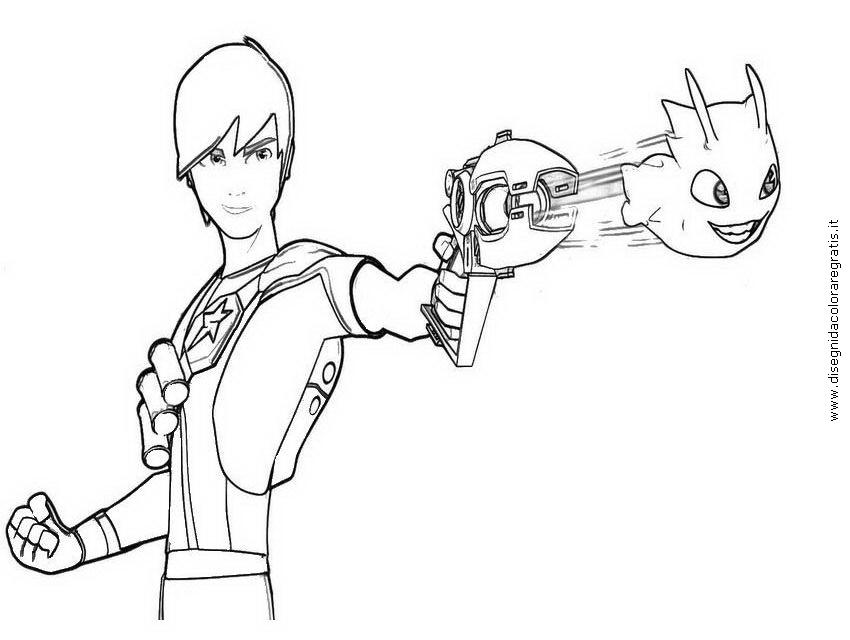 Dibujo Para Colorear Slugterra Blasters